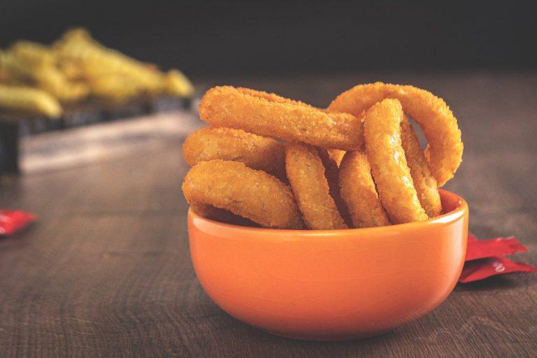 crunchy, fried, onion rings